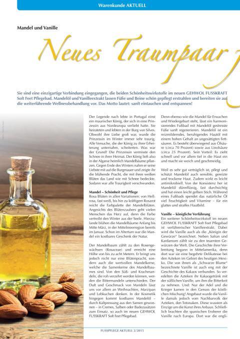Mandel und Vanille: Traumpaar für gepflegte Fußhaut