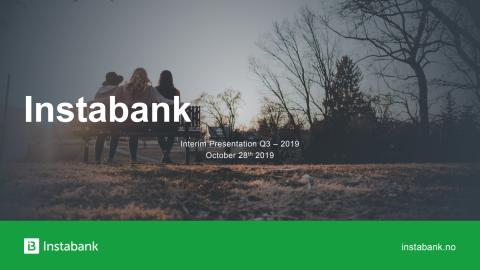 Instabank Presentasjon Q3 2019