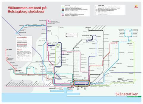 skånetrafiken karta Ny linjekarta för Helsingborgs stadsbussar   Skånetrafiken skånetrafiken karta