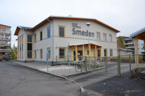 Nya förskolan Smeden, väst på stan