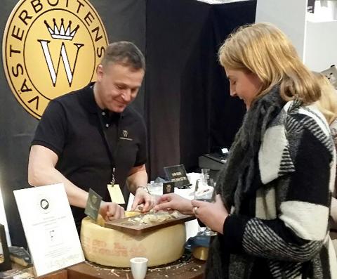 Norrmejerier på ostfestival och Svedjans ost vinnare av publikens pris