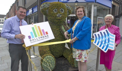 Three Budding Bears arrive in Ballymena to delight shoppers and visitors