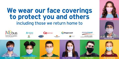 NEbus, Nexus and local authorities come together to highlight face covering message with face covering awareness week