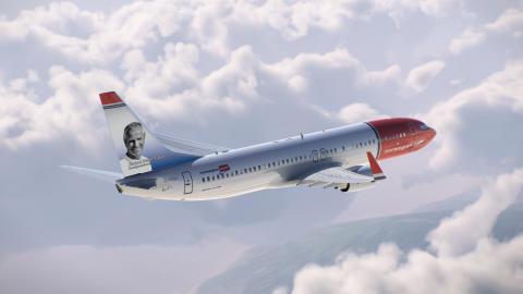 Richard Møller Nielsen på Norwegian-fly