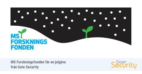 MS-Forskningsfonden erhåller en julgåva från Gate Security