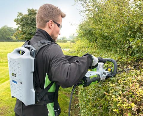 Ego Power + breddar sitt trädgårdsutbud med ett kraftfullt ryggbatteri