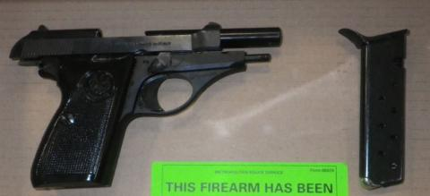 [Firearm recovered]
