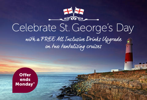 Celebrate St. George's Day with a free drinks package on Fred. Olsen Cruise Lines!