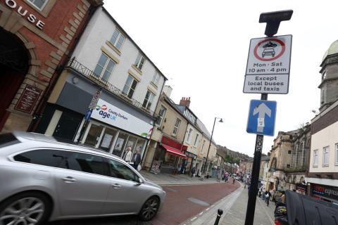 Roadworks at North Road and Milburngate in Durham from 3 October