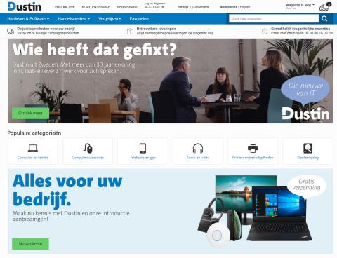 Dustin åpner for netthandel i Nederland