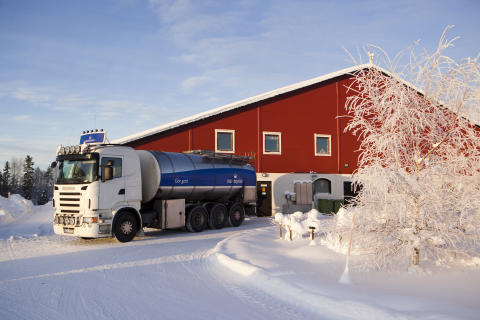Mjölkbil i Norrland