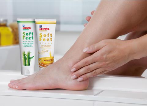 Das neue Wohlfühl-Doppel: GEHWOL FUSSKRAFT Soft Feet Peeling und Creme