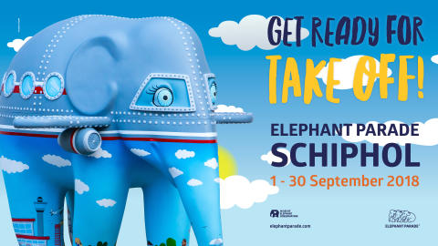 ​ELEPHANT PARADE FLIES INTO AMSTERDAM AIRPORT SCHIPHOL: WORLD-TRAVELLING ART EXPO RETURNS TO WHERE THE STORY STARTED