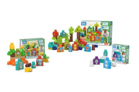 Mattel's MEGA™ bringt neue biobasierte Kunststoffblöcke auf den Markt