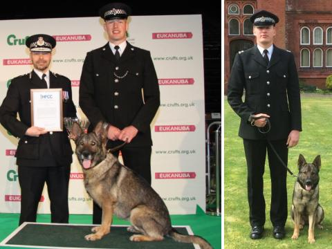 Police dog and handler claim national award at Crufts