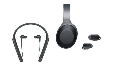Markkinoiden johtava Sony 1000X-vastamelutuoteperhe täydentyy uusilla Truly Wireless -kuulokkeilla sekä niskan takaa kulkevilla Bluetooth-kuulokkeilla