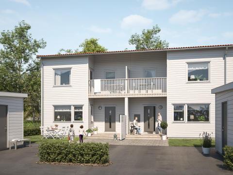 Nu startar försäljningen av BoKlok radhus i Västerhaninge