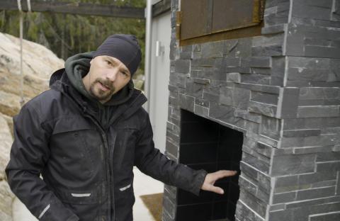 Bjørn bygger bo – Murt røykovn 3