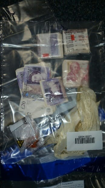 Two men arrested and cash and drugs seized following stop check in Everton