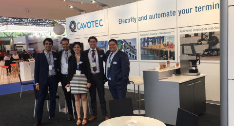 Cavotec's team ready to welcome you to stand E52 at TOC Europe