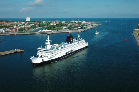 Luciaoptog på Scandlines-færgen