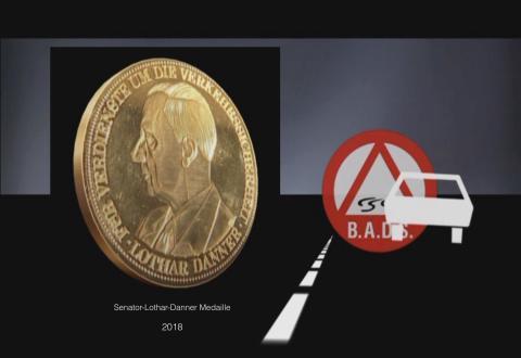 Danner-Medaille in Gold für Justizrat Hans-Jürgen Gebhardt