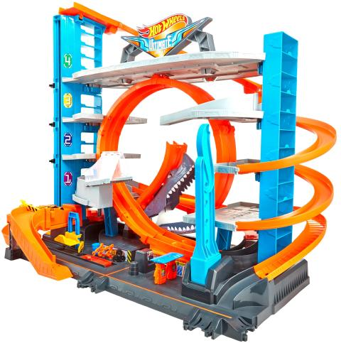 Hot Wheels City Ultimative Garage mit Hai-Angriff