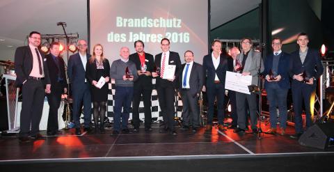 """Die Gewinner des """"Brandschutz des Jahres 2016"""""""