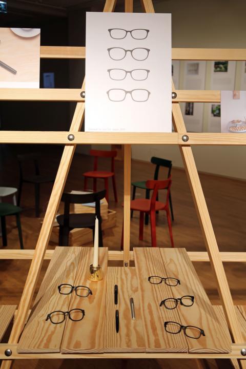 """Ausstellung """"JASPER MORRISON. THINGNESS"""" - Lamy Schreibgeräte und Brillenkollektion für Jins Co / Japan"""