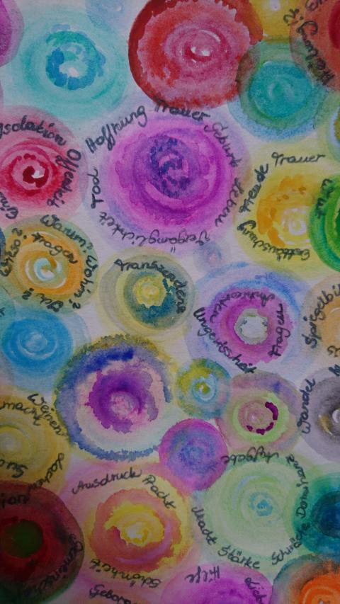 """Kunstwettbewerb """"Malen gegen Eierstockkrebs"""" - Kategorie """"Für die Kunsttherapie inspirierend"""" - Platz 1, Isolde Breer"""