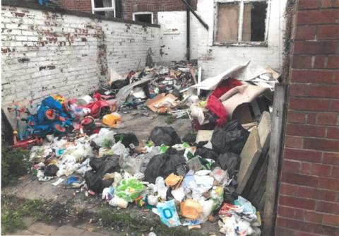 Back yard garbage costs Radcliffe resident £1,931