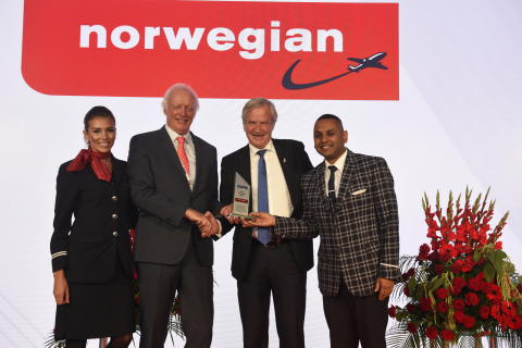 Norwegian élue « Compagnie de l'Année 2017»  par les prestigieux CAPA Aviation Awards for Excellence