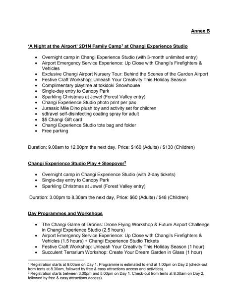 Annex B - Changi Experience Studio camps