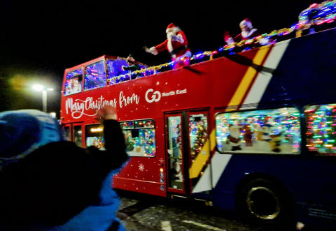 Celebrating Go North East colleagues' efforts to spread Christmas cheer across the region