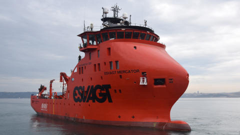 MHI Vestas and ESVAGT officially name hi-tech service vessel for Belgian offshore wind farms