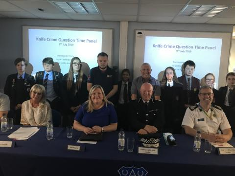 Merseyside Police joins forces with partners for Knife Crime Question Time Panel