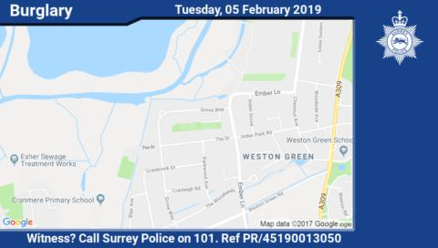 Did you see someone steal a safe from a house in Esher?