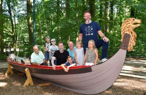 Picknicken wie König Harald I. Blauzahn im Wikinger-Boot