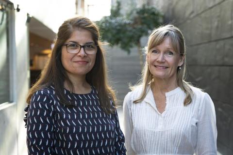 Ingrid Undeland (r) and Bita Forghani Targhi
