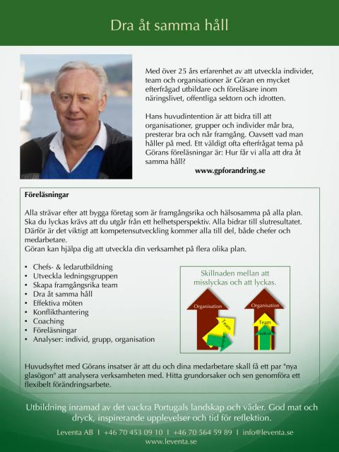 Göran Persson - förändringskonsult