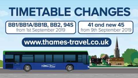 Service Changes from 1st and 9th September 2019