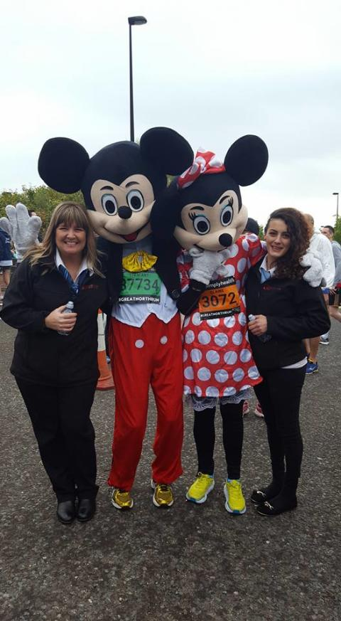 Go North East runners - Minnie Mickey