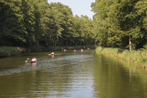 Kanus  auf der Woblitz