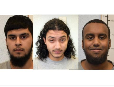 Three men jailed for terrorism offences
