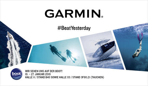 BOOT 2019: Garmin zeigt Neuheiten für das Connected Boat und lädt zum Presse-Event am Tauchstand