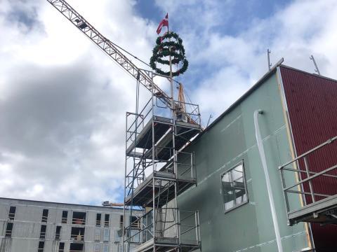 NREP og AG Gruppen fejrer rejsegilde på 186 bæredygtige lejeboliger ved Amager Strand