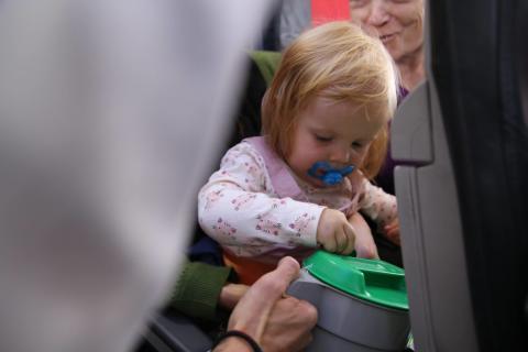 Luftens Bøssebærere - både store og små passasjer vil bidra til UNICEF