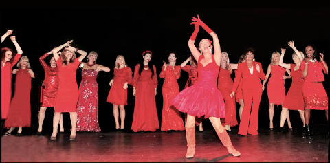 Woman in Red till Falun