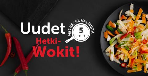 Uusia Hetki-wokkeja ja salaatteja kaupoissa!