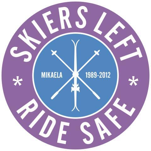 Skiers Left Ride Safe